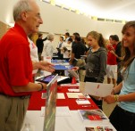 A college rep explains the value of a Lutheran education to a prospective student.