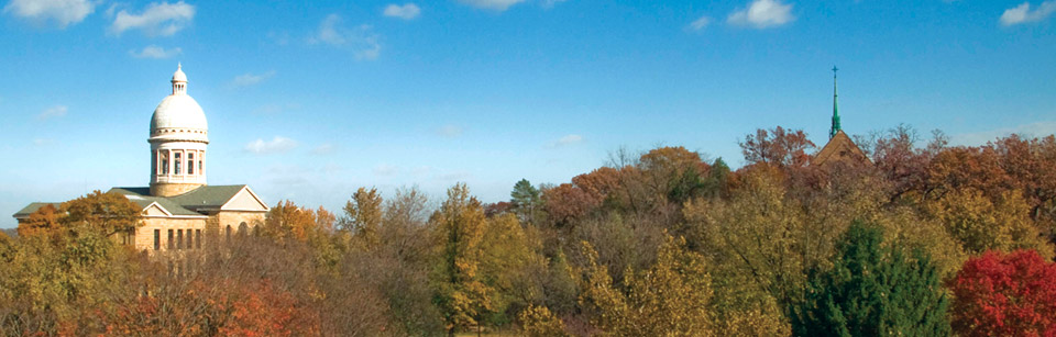 Hillside in Fall showing Augustana Campus