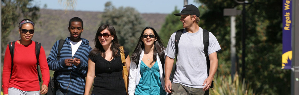 Students Walking on Campus at California Lutheran University