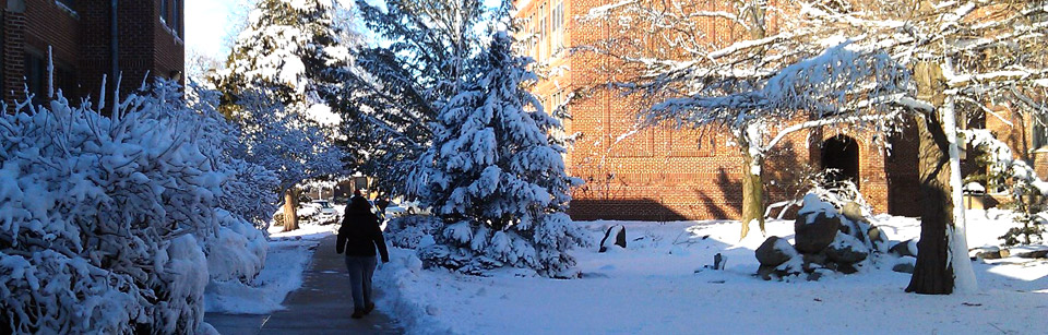 Campus in Winter at Concordia University, Nebraska