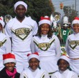 Cheerleaders from Concordia College in Selma