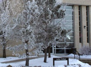 Winter at Luther College, University of Regina