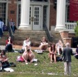 Students Studying on the Lawn at Susquehanna University
