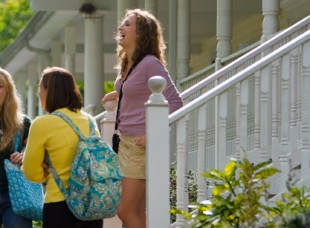 Students on campus at Wagner College