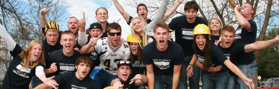 Students Cheering at Augustana College