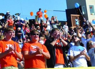 Students in Stands at Sporting Event at Midland College